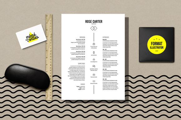 CV Resume Template Illustrator