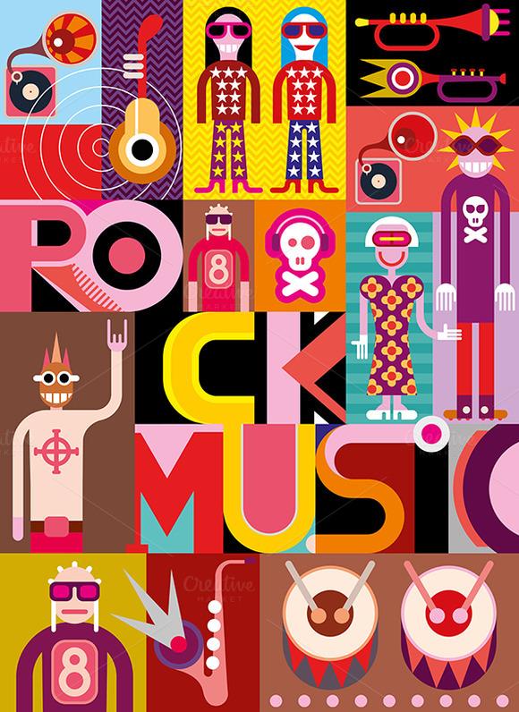 Rock Music Vector Illustration