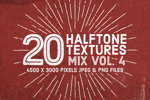 20 Halftone Textures Mix Vol 4