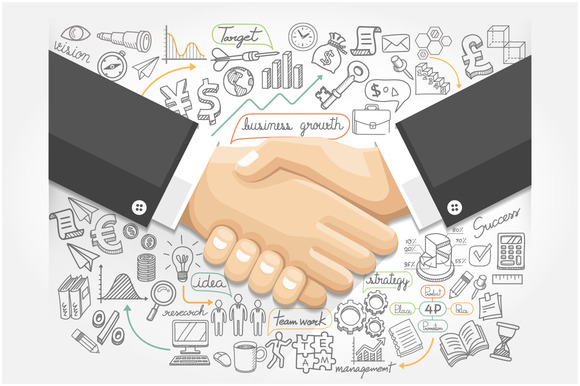 Business Handshake Infographics