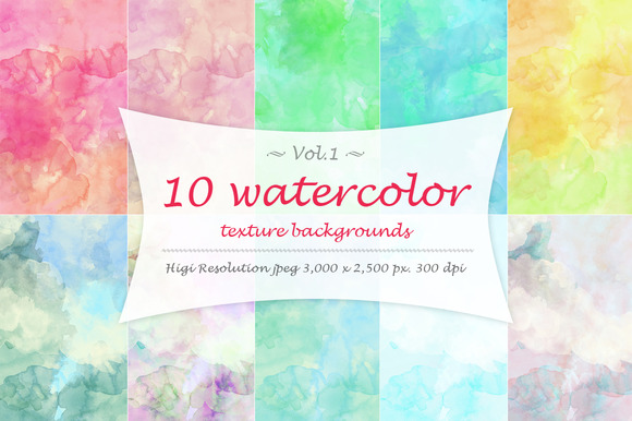 Watercolor Texture Vol 1
