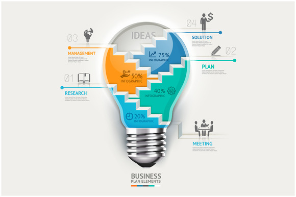 Business Lightbulb Infographics