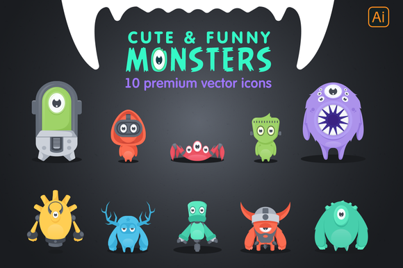 10 Adorable Vector Monsters