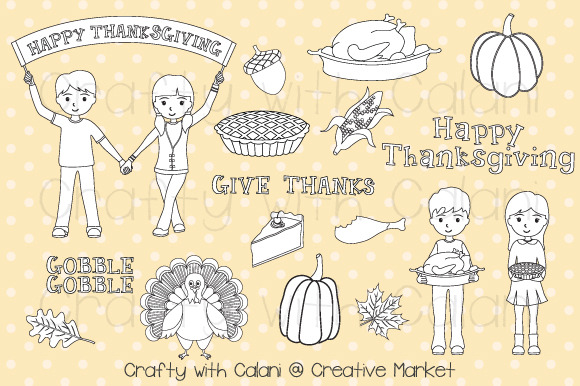 Thanksgiving Digital Stamp Set