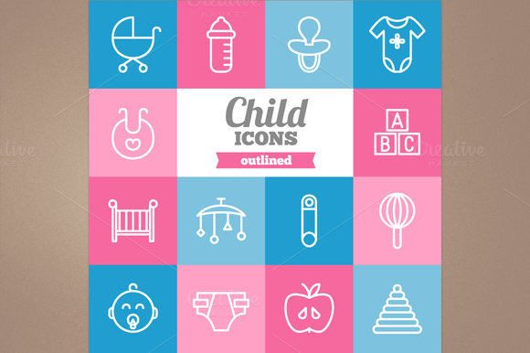 Outline Child Icons