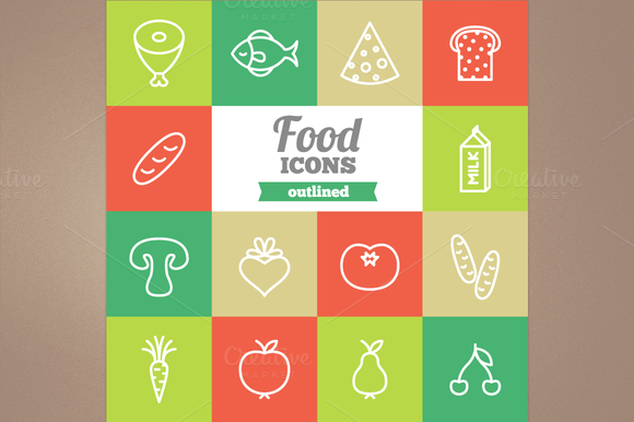 Outline Food Icons