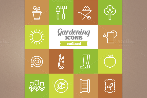 Outline Gardening Icons