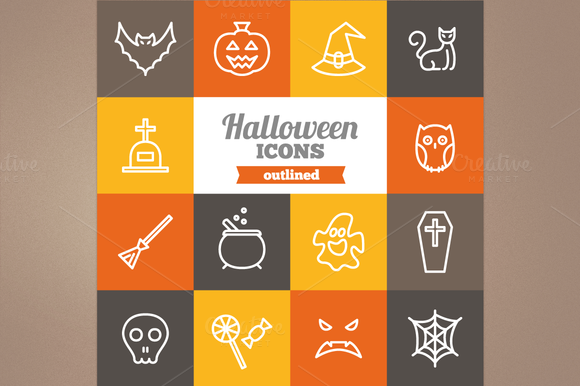 Outline Halloween Icons