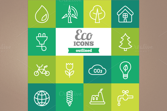 Outline Eco Icons