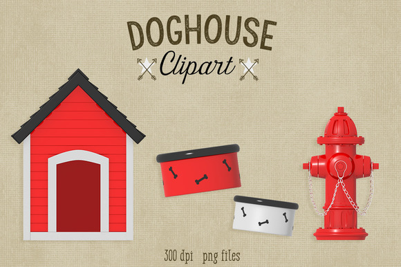 Doghouse Fire Hydrant Clipart