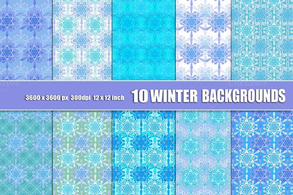 Christmas Snowflake Scrapbook Paper