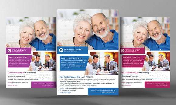 Retirement Investment Service Flyer