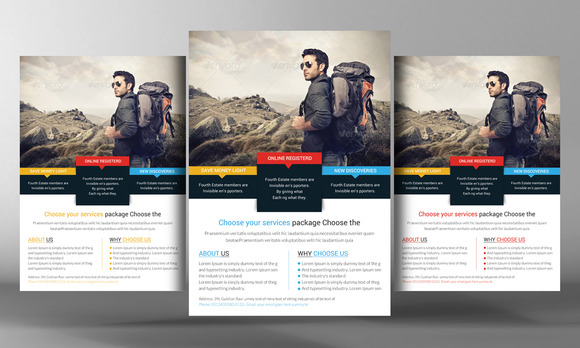 Tour Vacation Flyer Template