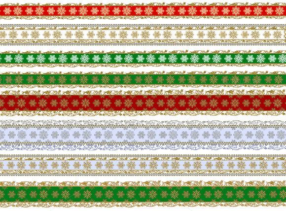 Christmas Snowflake Bordes Lace