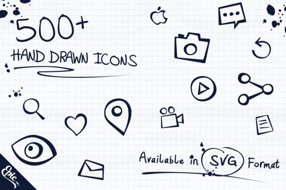 500 Epic Hand Drawn Icons