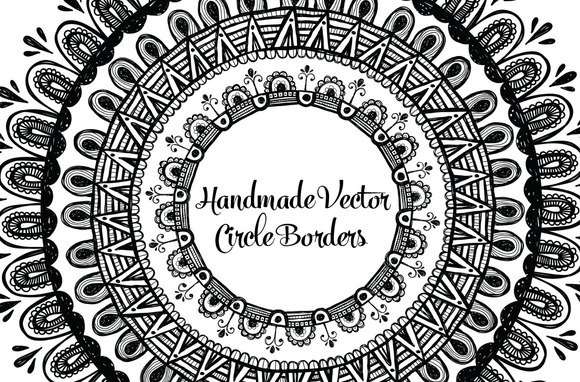 Hand Drawn Circle Borders