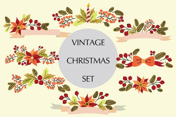 Vintage Christmas Set