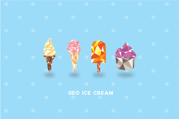 GEO ICE CREAM Set