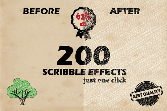 200 Scribble Effects Bonus