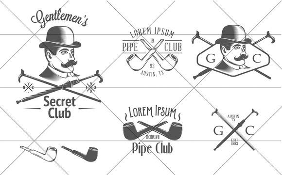 Set Of Vintage GentlemenЎЇs Club Desi