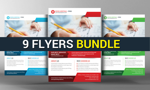 9 Corporate Business Flyers Bundle