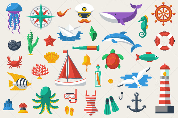 35 Marine Icons
