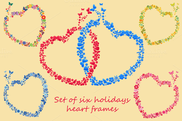 Holidays Heart Frames