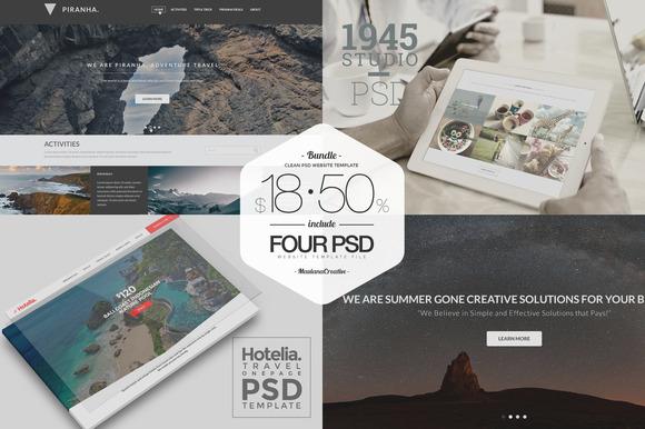 BUNDLE Clean PSD Website Template