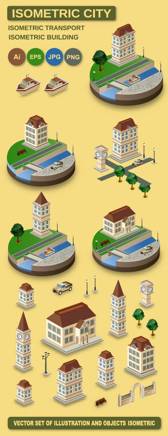 Isometric Retro City