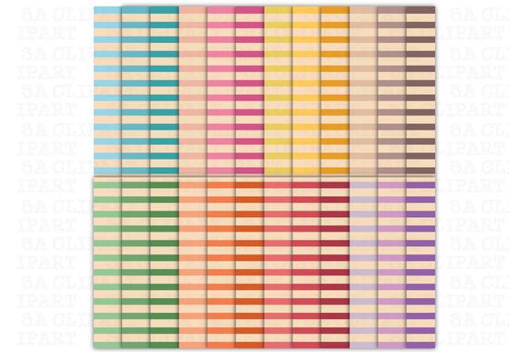 Vintage Stripes Digital Papers
