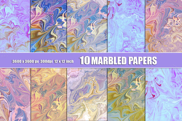 Marbled Watercolor Paper Background