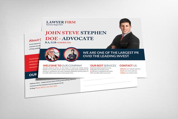 Advocate Lawyer Postcard