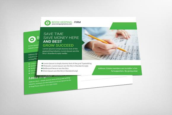 Book Keeping Accounting Postcard
