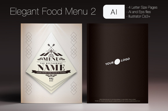 Elegant Food Menu 2