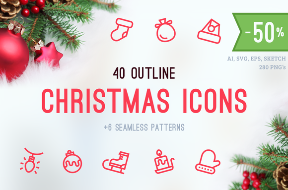 Christmas Icons Patterns
