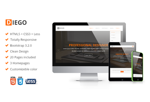 Diego Responsive Corporate Template