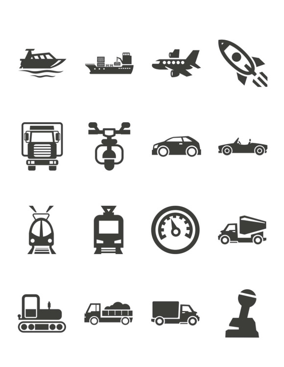 Transportation Icons Pack