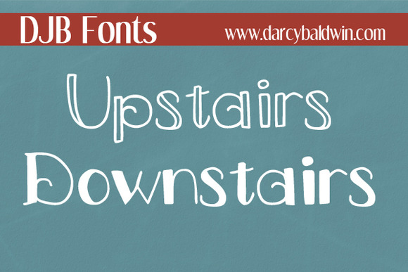 DJB Fonts Upstairs Downstairs