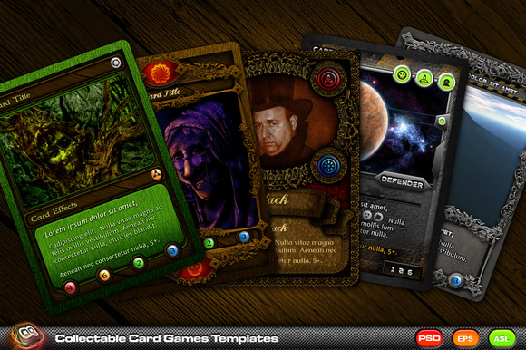 Collectable Card Games Templates