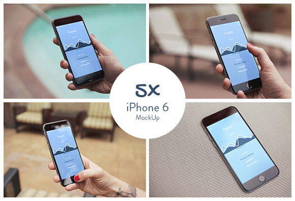 5x IPhone 6 MockUps Vol.1