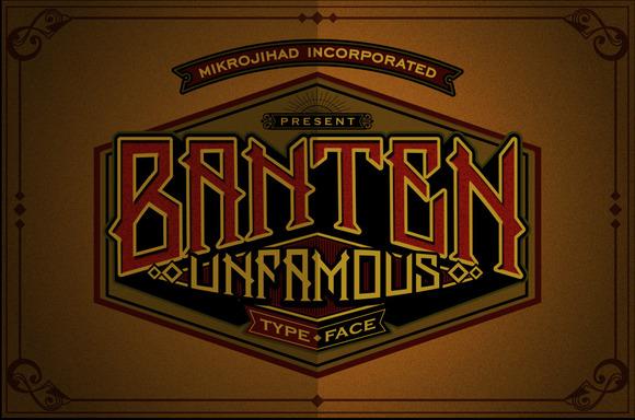 Banten Unfamous Typeface