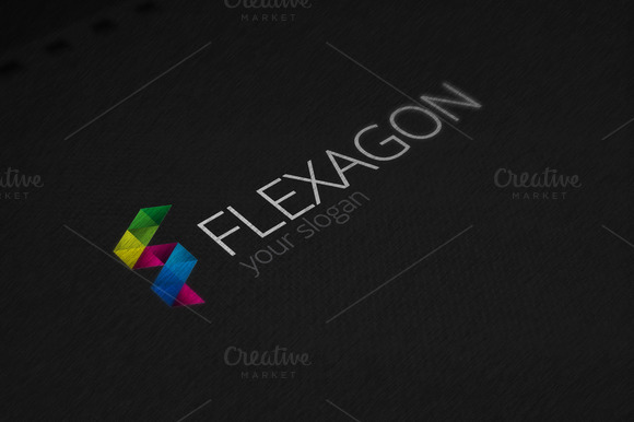 Flexagon Logo Template