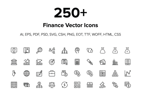 250 Finance Icons