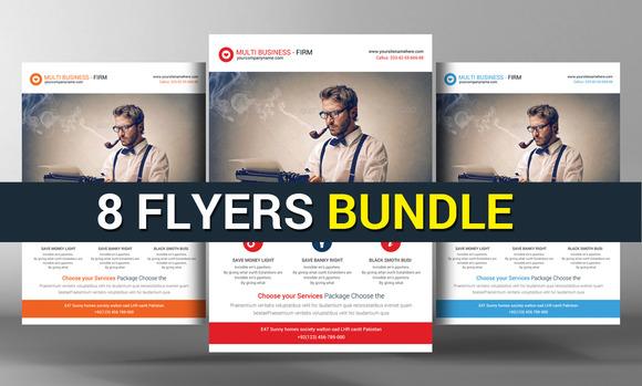 8 Corporate Business Flyers Bundle