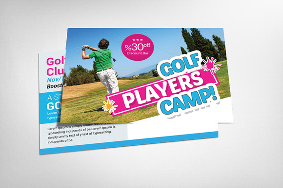Golf Club Postcard Template