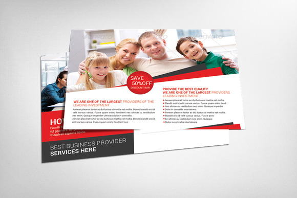 Insurance Agency Postcard Template