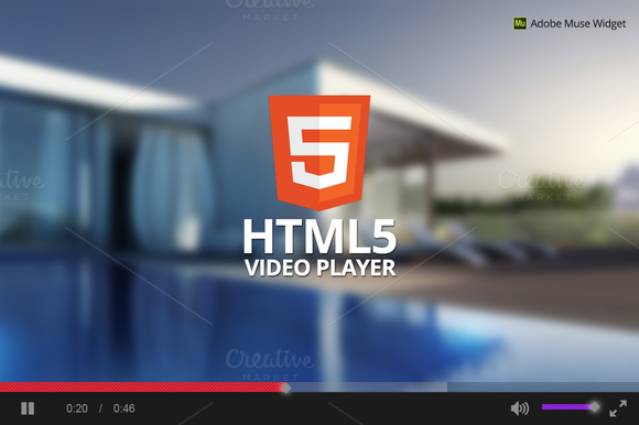 HTML5 Video Player Adobe Muse