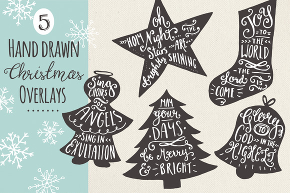 Christmas Overlays Set 7 Vector