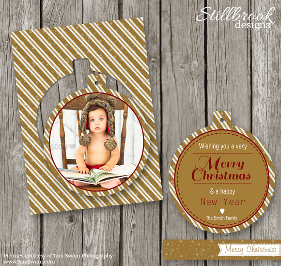 Gold Christmas Card Template CC10