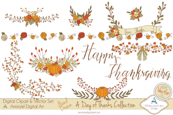 A Day Of Thanks Clipart Vector